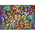 Disney - 1000pcs Jigsaw Puzzle [All-star Stained Glass]