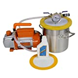 1 1/2 Gallon Vacuum Degassing Chamber Kit with 3.6 CFM Vacuum Pump - Not for Wood Stabilizing