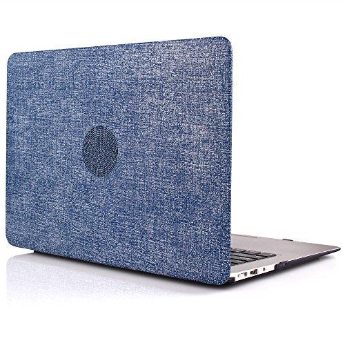 idoo-macbook-schutzhulle-hard-case-fur-macbook-air-13-zoll-in-textil-optik-jeansblau-matt-finish