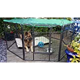 Large Strong 8-Panel Dog Pen/Puppy Pen/Rabbit Enclosure For Indoor & Outdoor Use Includes Safety Cover