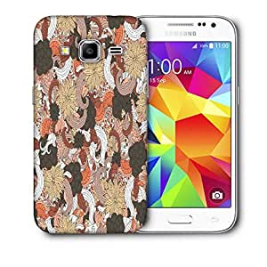 Snoogg Mixed Flower Pattern Printed Protective Phone Back Case Cover For Samsung Galaxy CORE PRIME