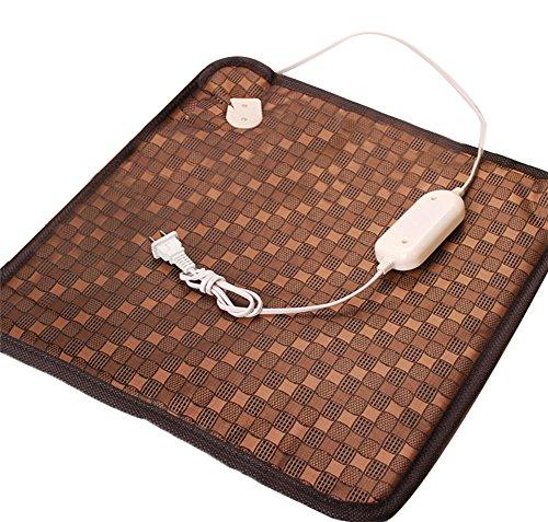 Moolecole Pet Dog Cat Bed Waterproof Electric Heating Pad Pet Heater Warmer Mat Warm Blanket Cushion for Pet 17.71*17.71 Inch 110V 20W
