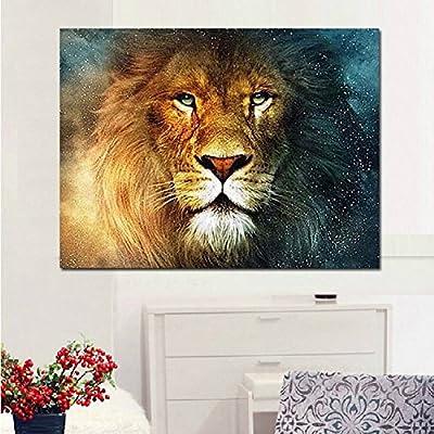 Grade the drill DIY handmade diamond draw lion head European home decor murals