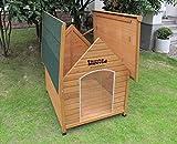 XL Sussex Hundehütte Aus Holz Mit Entfernbarem Boden Zur Einfachen Reinigung A - 3