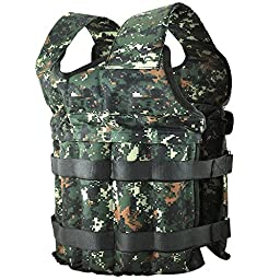 Yaheetech Adjustable Weighted Vest in Camouflage Workout Weight Vest Training Fitness