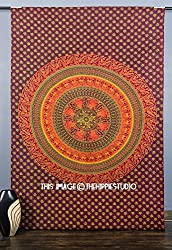 Bohemian Tapestries Wall Hangings, Indian Mandala Bed Spread Tapestries, Hipp...