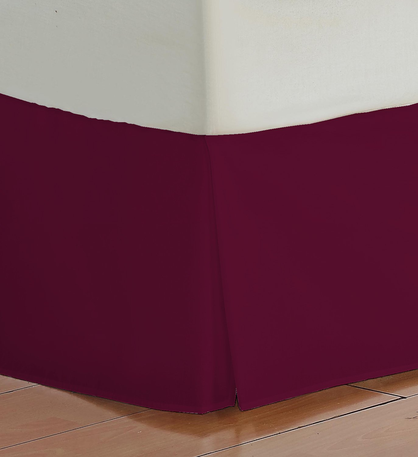 Twin Size 600 Thread Count 100% Egyptian cotton 16 Deep Pocket Tailored Bedskirt Solid -Burgundy Created By Pearl Bedding olympic queen size 600 thread count 100