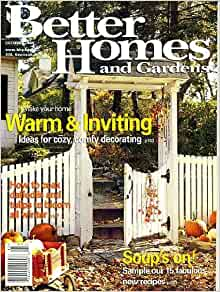 Better Homes And Gardens October 2000 Ideas For Cozy Comfy