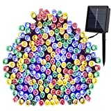 GDEALER Solar String Lights 72feet 200 LED 8 Modes Solar Powered Waterproof Starry Fairy Outdoor String Lights holiday Decoration Lights for Patio Gardens Homes Landscape Wedding Party