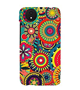 Circular Design 3D Hard Polycarbonate Designer Back Case Cover for Micromax Android A1 :: Micromax Canvas A1 AQ4502
