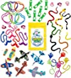 100 Pc Terrific Toy Assortment (Includes: Glider Airplanes, Sticky Hands & Mustaches, Flying Frogs, Snakes, Rings, Bracelets, and Other Small/medium Toys for Party Favor Bags, Piñata, Carnival Prizes, or School Classroom Rewards Box) from Super Secret Su