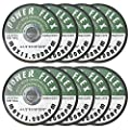 """4 1/2"""" x 1/16 x 7/8"""" Premium Cut Off Wheels - 10 pack, for cutting all ferrous metals and stainless steel"""