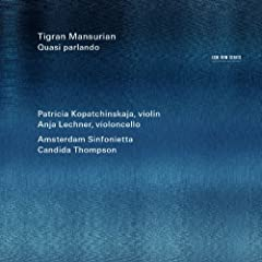 Mansurian: Four Serious Songs For Violin And String Orchestra - III. Allegro vivace