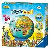 Ravensburger Children's World Map 108 Piece Children's Puzzleball