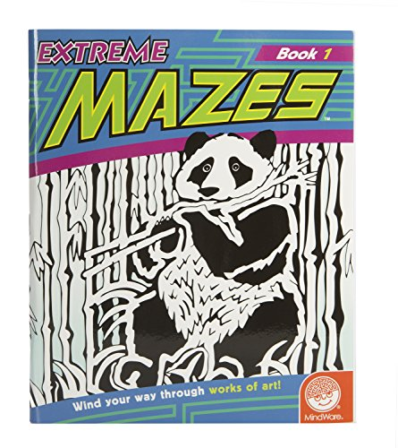 "MindWare - Extreme Mazes: Book 1 - 23 Unique Puzzles - Teaches Beneficial Skills - Includes 10"" x 15"" Fold-Out Pages"