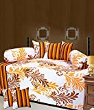 Rashi Homes Cotton 8 Piece Single Diwan Set -multy Color