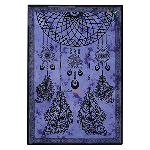 Tapestry Single Dream Catcher Christmas Gift Unique Wall Hanging Art Decor Mandala Tapestries Hippie Dorm 84X55 inches AAKRITI GALLERY