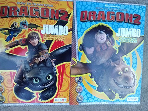 How To Train Your Dragon 2 - One Varied Jumbo Coloring and Activity Book - 96 Pages - 1