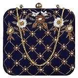 Marigold Bagss Royal Blue Wedding Clutch