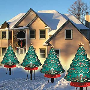 giant outdoor christmas tree stake path lawn lights home kitchen. Black Bedroom Furniture Sets. Home Design Ideas