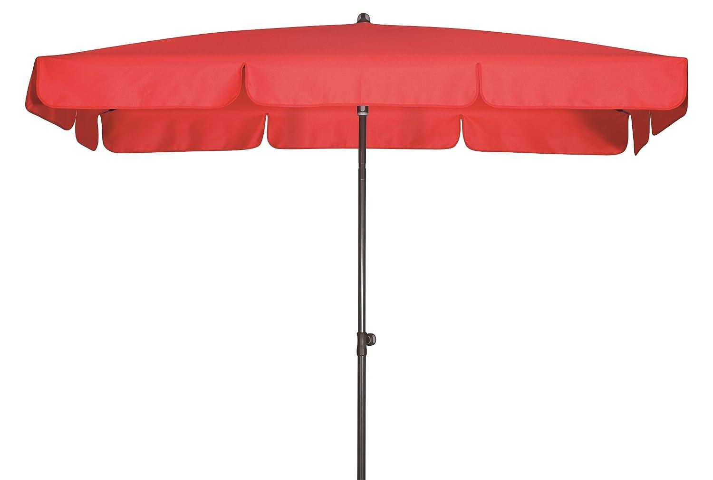 Absolut wasserdichter Gartenschirm Waterproof 185×120 von Doppler mit UV-Schutz 80, Farbe rot kaufen