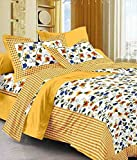Kismat Collection Handmade Designer Cotton Printed Double Bedsheet With 2 Pillowcases