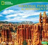 2014 National Geographic National Parks & Monuments Deluxe Wall