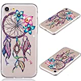 Image of iPhone 7 Case, Asstar Ultra Thin Clear Flexible Soft Art Pattern Crystal Gel TPU Rubber Slim Skin Soft Shock Absorption Anti-Scratches Case for Apple iPhone 7 2016  (Windbell)