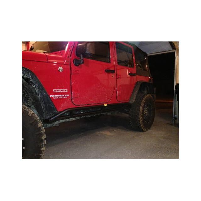 Smittybilt 76644 Jeep Wrangler SRC Rocker Guards   JK   Rocker Guards Automotive