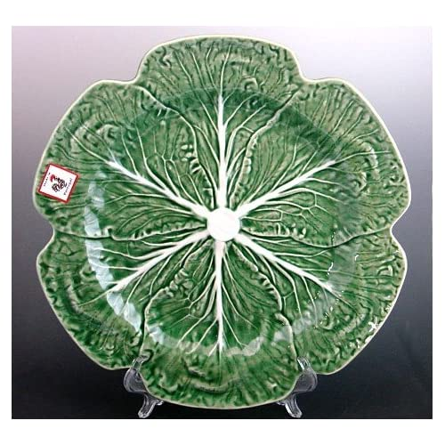 Set of 4 dinner plates chargers 12 - Bordallo pinheiro portugal ...