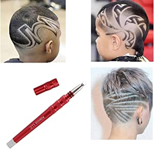 Adecco LLC Hair Razor Pen, Hair Tattoo Trim Styling Face Eyebrow Shaping Device,Updated Fourth Engraved Pen with 20 Blades, New Arrival DIY Hair Styling Eyebrows Beards Razor Tool