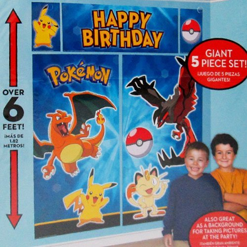 Pokemon 'Pikachu and Friends' Wall Poster Decorating Kit (5pc) - 1