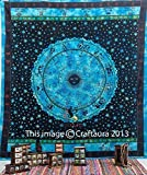 """Zodiac Tapestry Wall Hanging Horoscope Tapestry Indian Astrology Hippie Wall Tapestries for Dorms Boho Twin Bedding Zodiac Tapestry. (85"""" X 55')"""