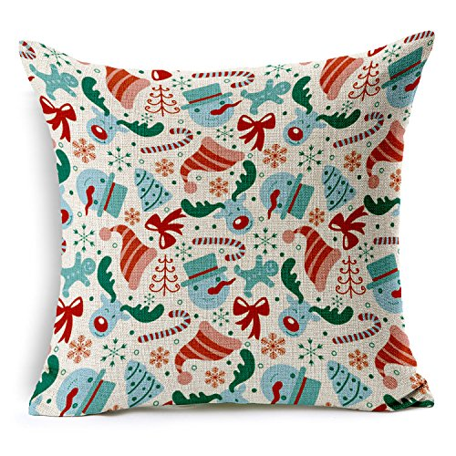HomeChoice Merry Christmas Gifts to Every Home Cotton Linen Throw Pillow