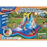 Spring & Summer Toys Banzai Slide 'N Soak Splash Park Constant Air Water Slide (Nearly 8ft Tall and Includes Blower Motor)