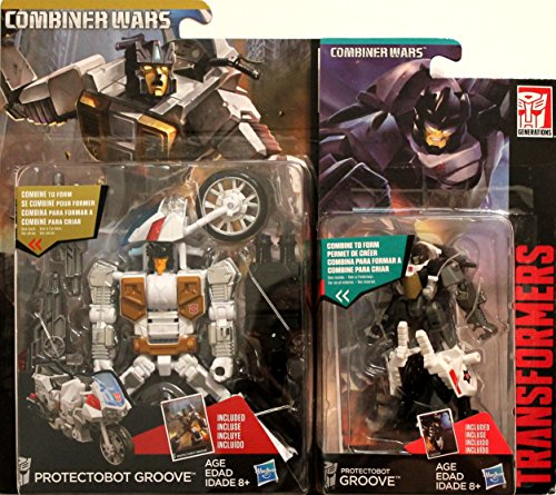 Transformers Generations Combiner Wars Deluxe Class Protectobot Groove & Legends Class Protectobot Groove Set of 2