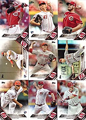 2016 Topps Series 1 Cincinnati Reds Baseball Card Team Set - 9 Card Set - Includes Brandon Phillips, Jay Bruce, Homer Bailey, J.J. Hoover, and more!