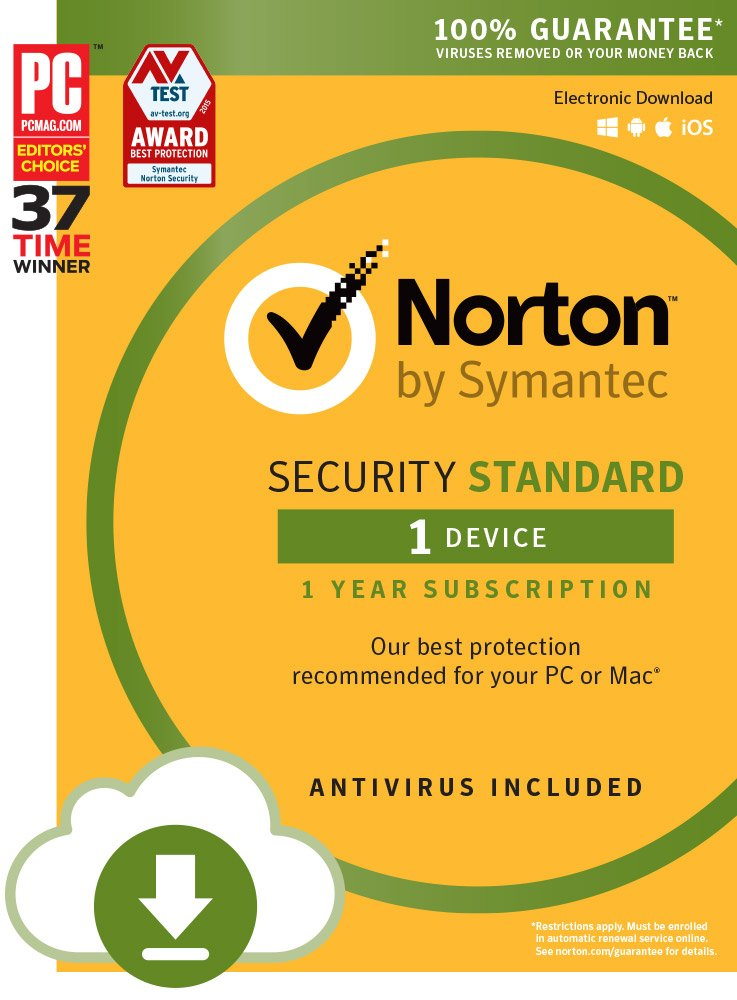 Norton Security Standard - 1 Device | PC/Mac Online Code (Online Code)