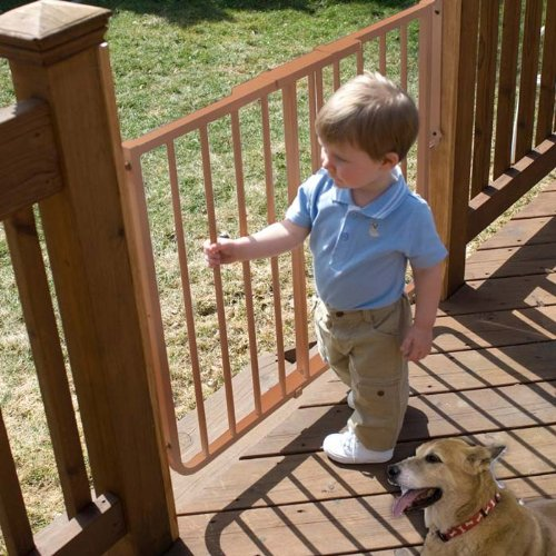 Cardinal Stairway Special Outdoor Pet Gate - Brown Ss-30Od/Br front-975633