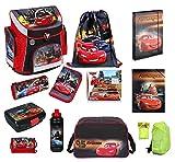 Schulranzenset Disney Cars 19-tlg. Sporttasche, Federmappe...