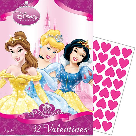 Disney Princess Valentine's Day Cards 32ct