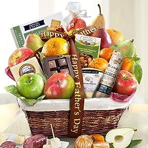 Golden State Fruit Gourmet Abundance Gift Basket, Father's Day