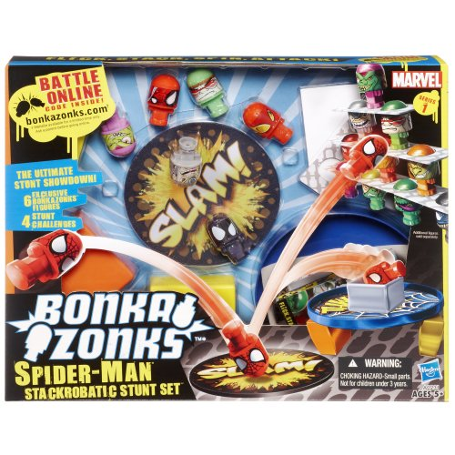 Bonkazonks Marvel Series 1 Spider-Man Stackrobatic Stunt Set - 1