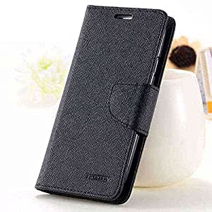 Pikimania Wallet Style Flip Case Cover For Samsung Galaxy J1 Ace (Black)