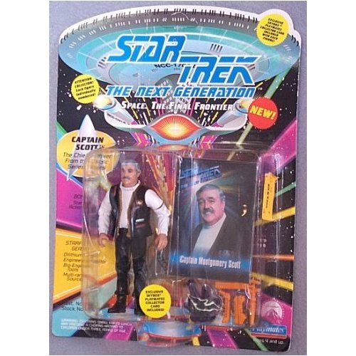 "Captain Montgomery Scott Action Figure As Seen in the Star Trek: Next Gext Generation Episode ""Relics"""