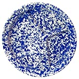 Enamelware Divided Camp Plate - Blue Marble