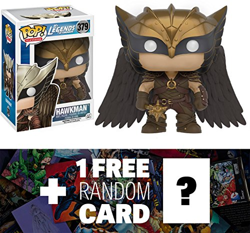 Hawkman: Funko POP! x Legends of Tomorrow Vinyl Figure + 1 FREE Official DC Trading Card Bundle (096847)