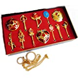 Touirch Anime Sailor Moon Pretty Cosplay Keychain Pendant Necklace Gift (B) (Color: B)