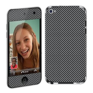 Apple iPod Touch 4G (4th Generation) Vinyl Protection Decal Skin Carbon Fiber