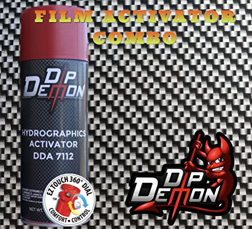 COMBO KIT CARBON FIBER BLACK & SILVER HYDROGRAPHIC WATER TRANSFER FILM ACTIVATOR COMBO KIT HYDRO DIPPING DIP DEMON (Hydro Film Carbon Fiber compare prices)